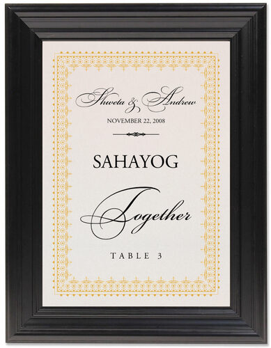 Framed Photograph of Hindi Sentiments Table Names