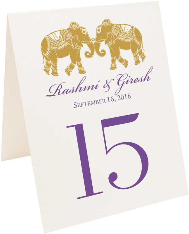 Photograph of Tented Indian Elephants Table Numbers