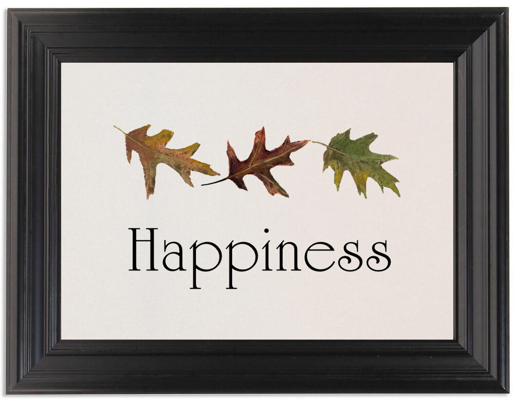 Framed Photograph of Leaf Pattern Assortment Table Names