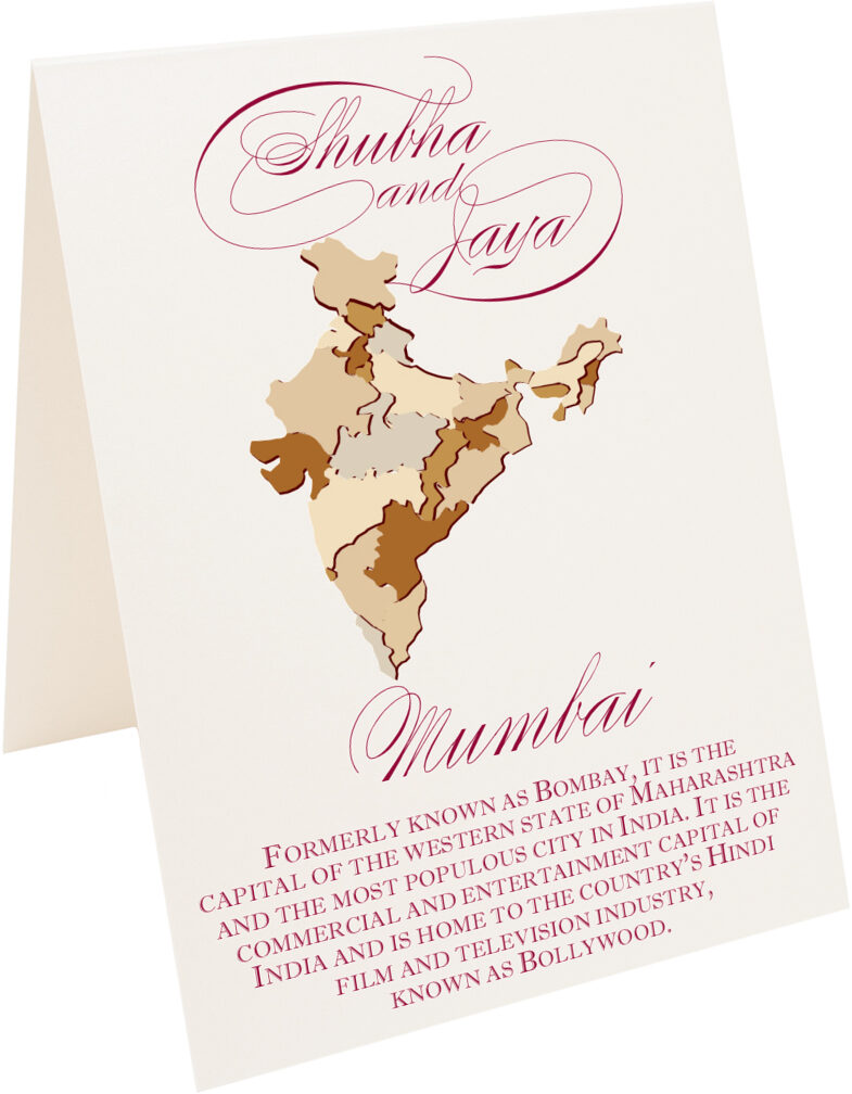 Photograph of Tented Map Of India Memorabilia Cards
