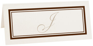 Photograph of Tented Bracha Place Cards