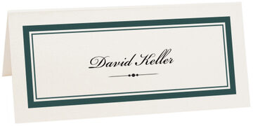Photograph of Tented Divider 0498 Place Cards