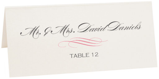 Photograph of Tented Ornate Line Flourish 0637 Place Cards