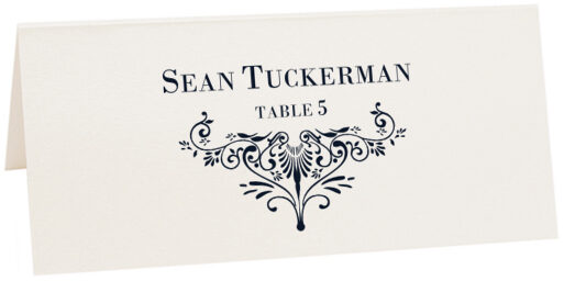 Photograph of Tented Vignette 0637 Place Cards