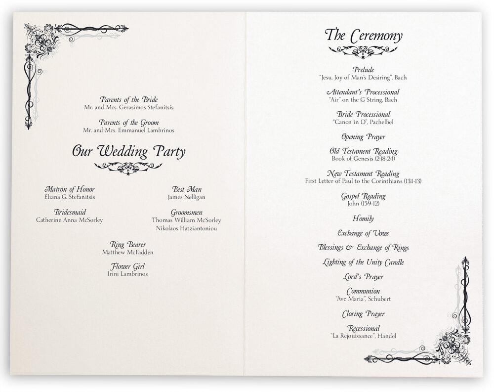 Photograph of Midsummer's Night Dream Wedding Programs