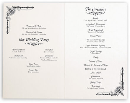 Photograph of Midsummer's Night Dream Wedding Programs