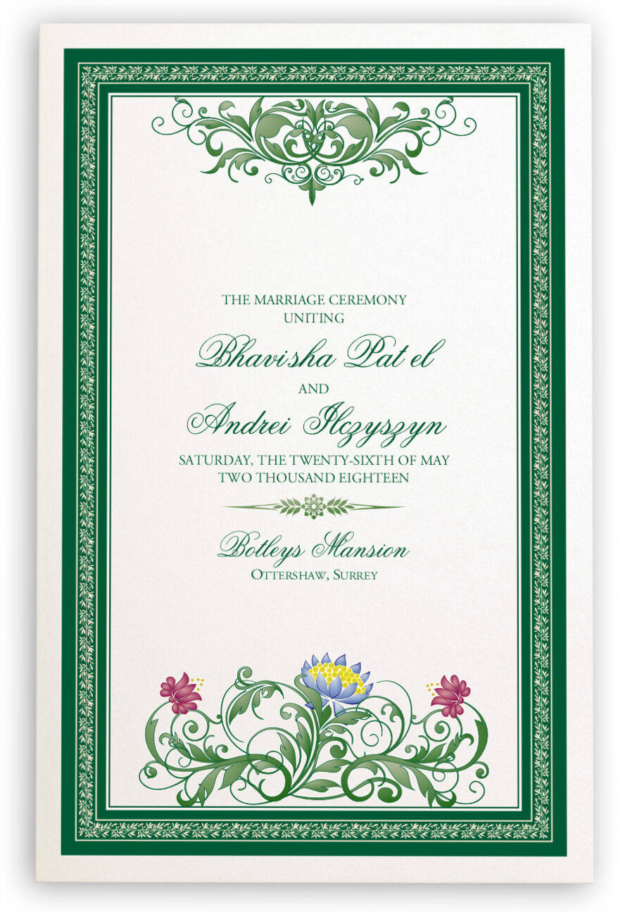 Photograph of Moon Bloom Wedding Programs