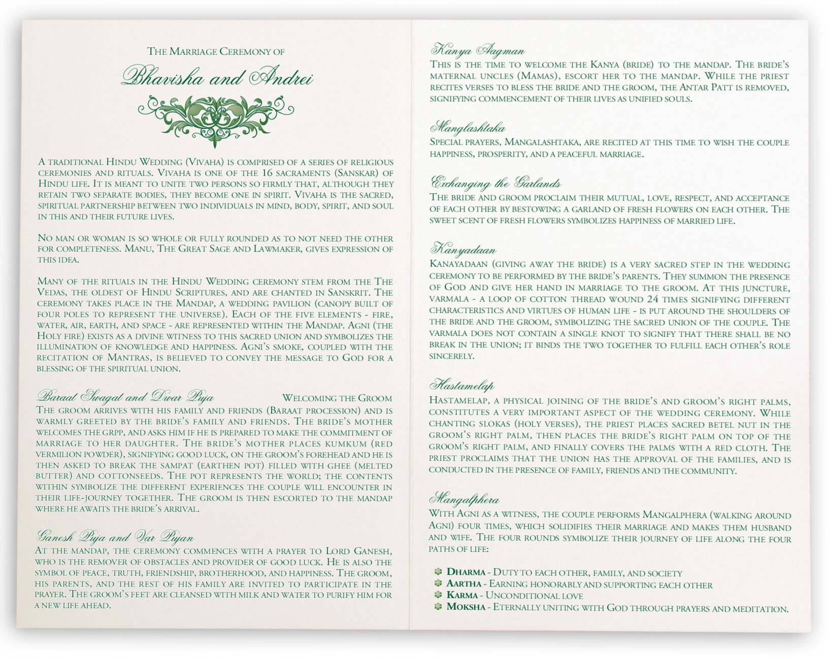Moon Bloom Wedding Ceremony Programs Documents And Designs