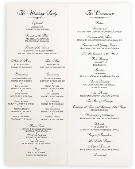 Photograph of Only Calligraphy Wedding Programs