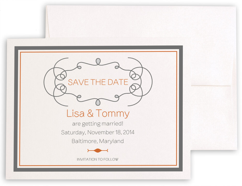 Photograph of Brownstone Monogram 15 Save the Dates