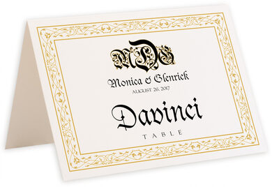 Photograph of Tented Blackletter Gothic Table Names