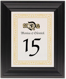 Framed Photograph of Blackletter Gothic Table Numbers