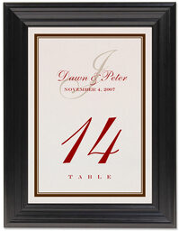 Framed Photograph of Bracha Table Numbers