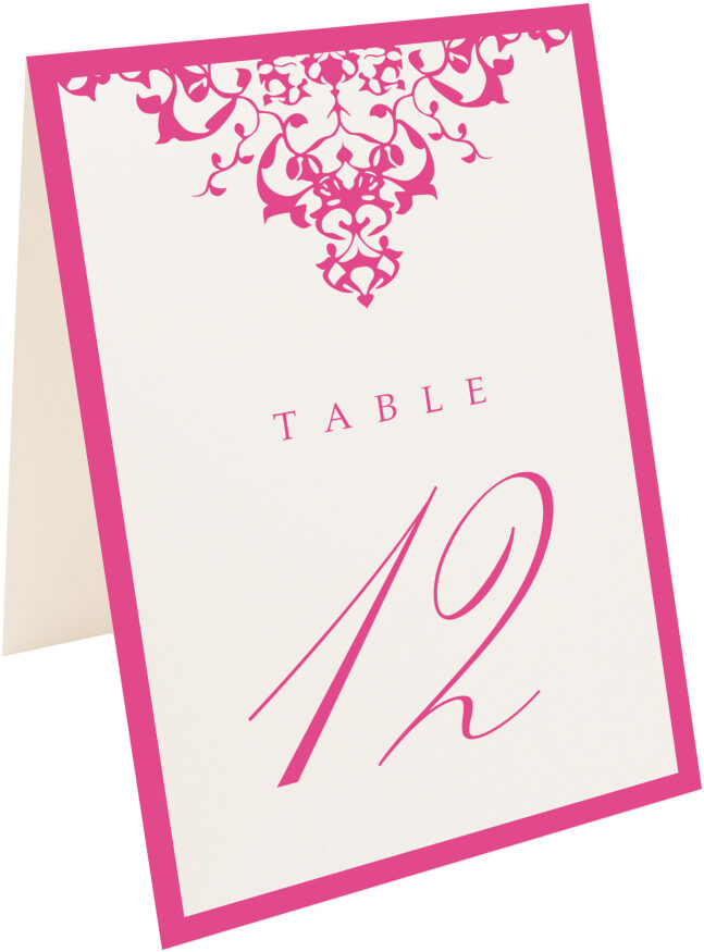Photograph of Tented Diamond Mandala Table Numbers