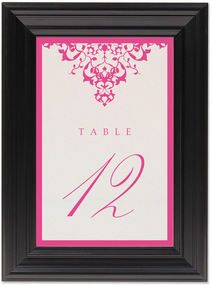 Framed Photograph of Diamond Mandala Table Numbers