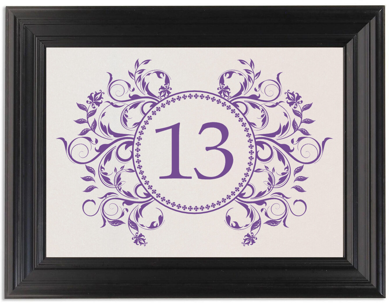 Framed Photograph of Gingee Full Table Numbers