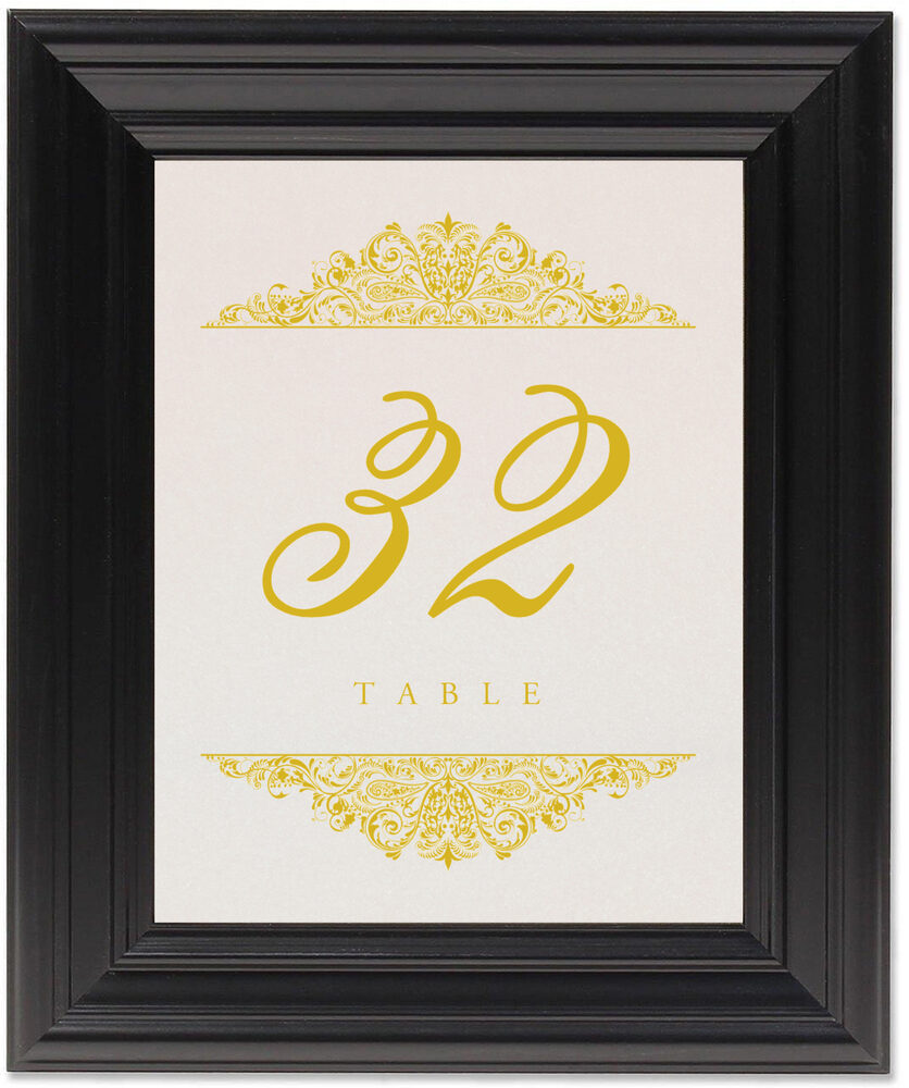 Framed Photograph of Paisley Table Numbers
