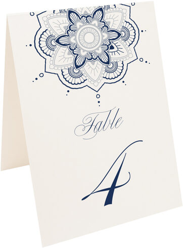 Photograph of Tented Star Mandala Table Numbers