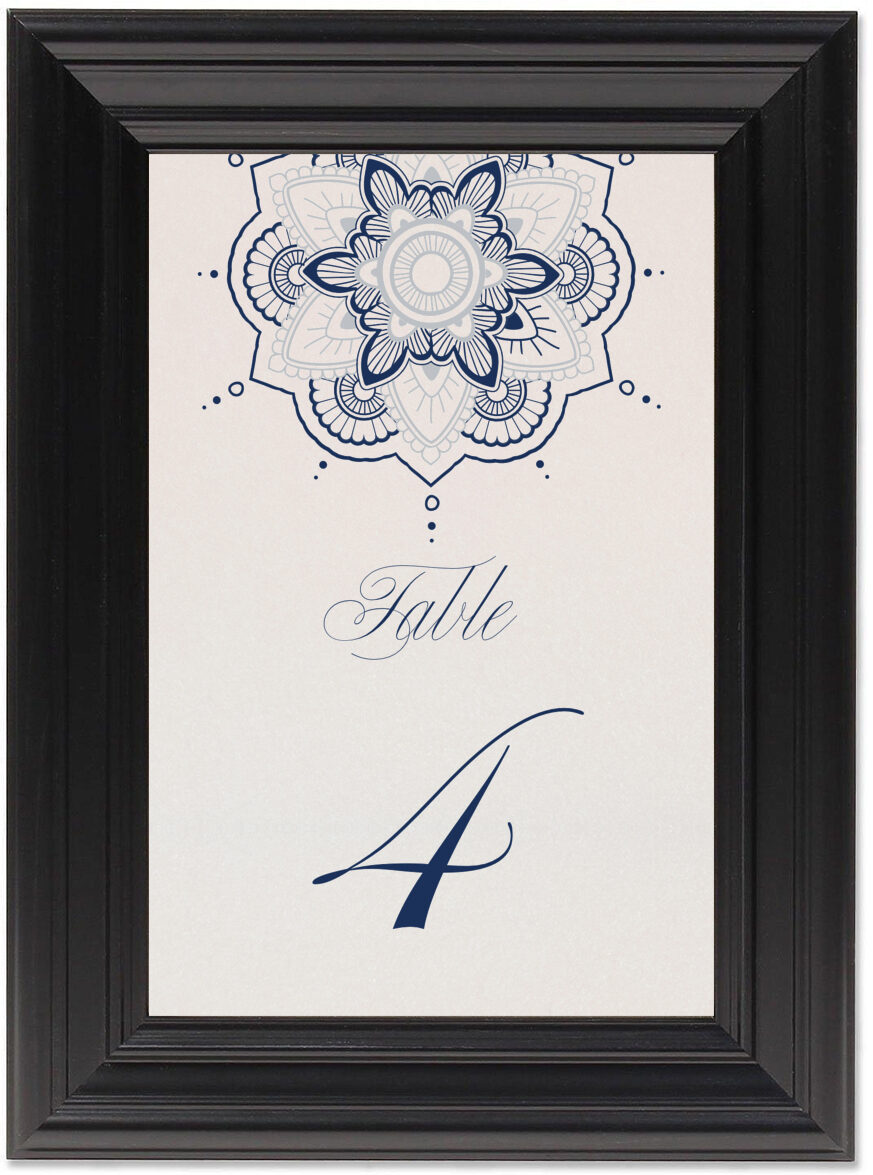 Framed Photograph of Star Mandala Table Numbers