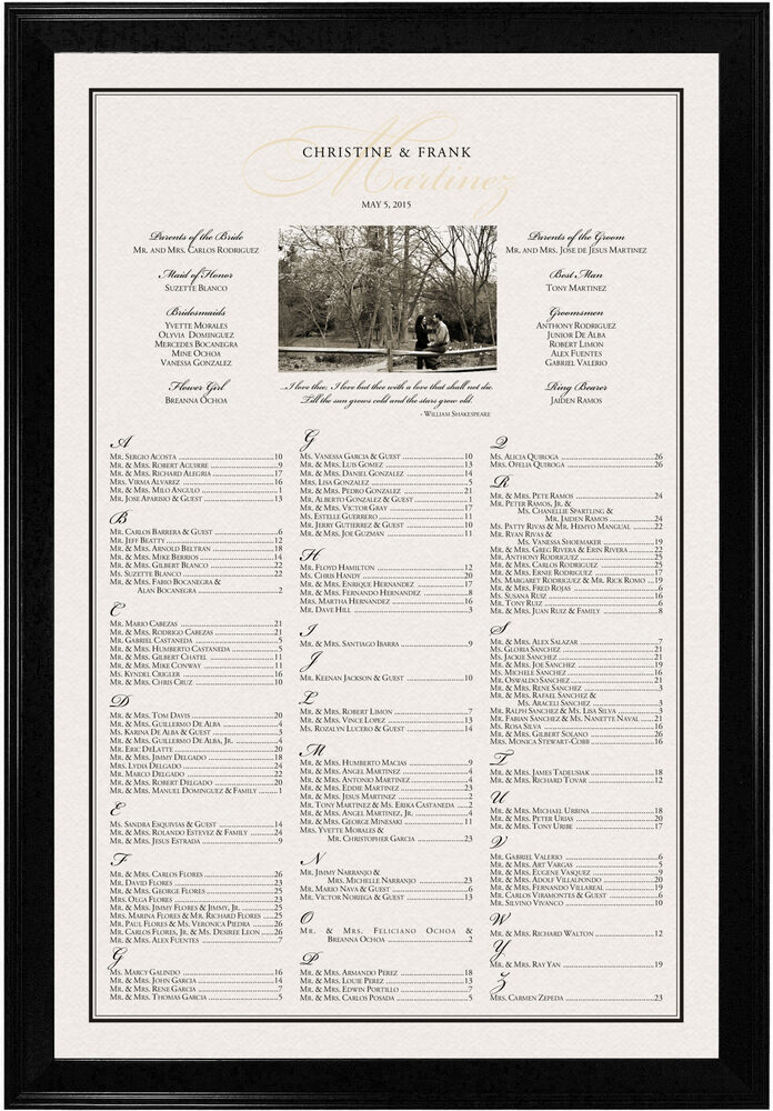 Photograph of Charming Romantic Seating Charts