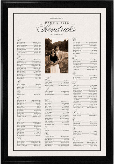 Photograph of Forever Summer Seating Charts