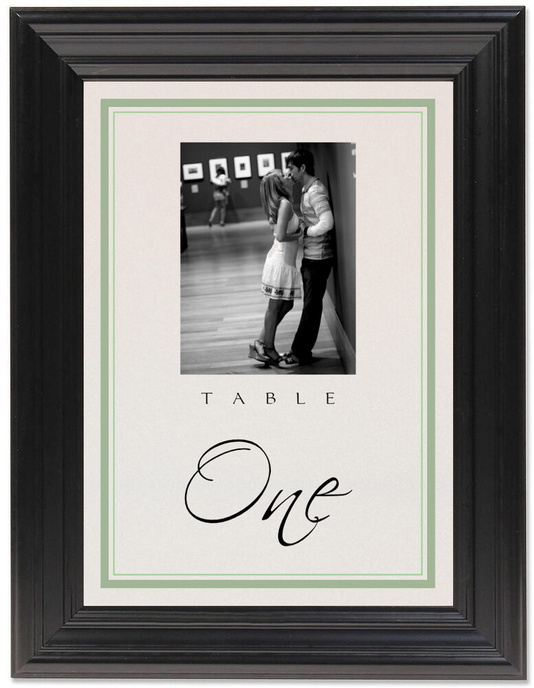 Framed Photograph of Engagement Photography 01 Table Numbers
