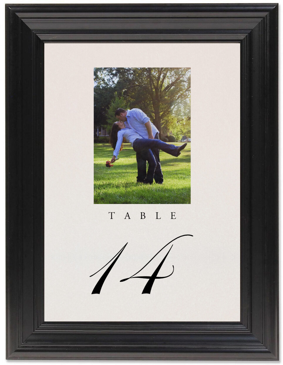 Framed Photograph of Engagement Photography 02 Table Numbers