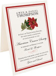 Photograph of Tented Poinsettia Donation Cards