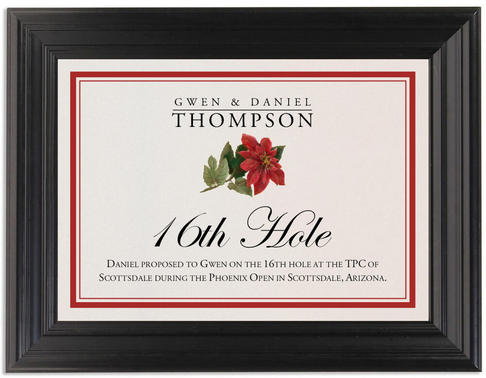Framed Photograph of Poinsettia Memorabilia Cards