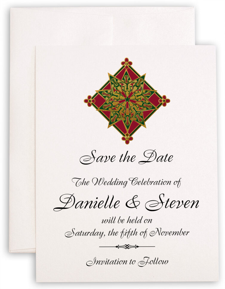 Photograph of Holiday Star Save the Dates