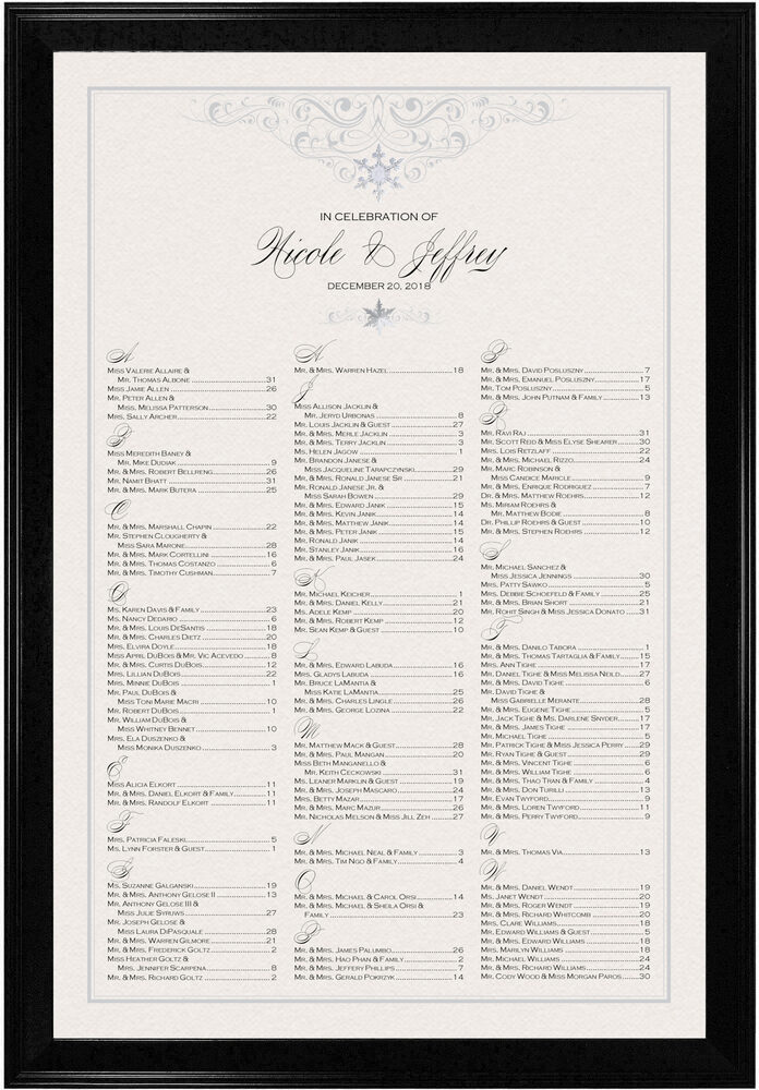 Photograph of Vintage Snowflake Twist Seating Charts