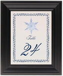 Framed Photograph of Snowflake 06 Table Numbers