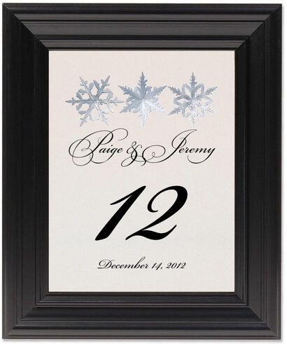 Framed Photograph of Snowflake Pattern 01 Table Numbers