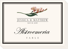 Assorted Flowers and Monogram