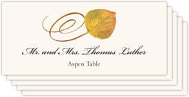 Assorted Swirly Leaves Autumn/Fall Leaves Place Cards