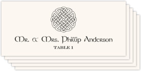 Celtic Knot Assortment Celtic/Irish Inspired Wedding Place Cards