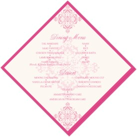 Diamond Mandala Contemporary and Classic Menus