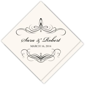 Flourish Monogram 04 Contemporary and Classic Favor Tags