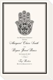 Hand of Miriam Jewish Wedding Programs