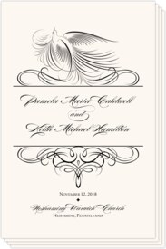 Nighthawk Flourish Birds Birds and Butterflies Wedding Programs