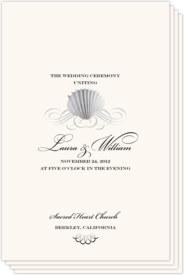 Seashell Scallop Swirl Beach and Seashell Wedding Programs