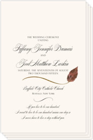 Ironwood Wispy Leaf Autumn/Fall Leaves Wedding Programs