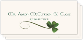 Wispy Shamrock Celtic/Irish Inspired Wedding Place Cards