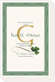 Wispy Shamrock Celtic Wedding Programs