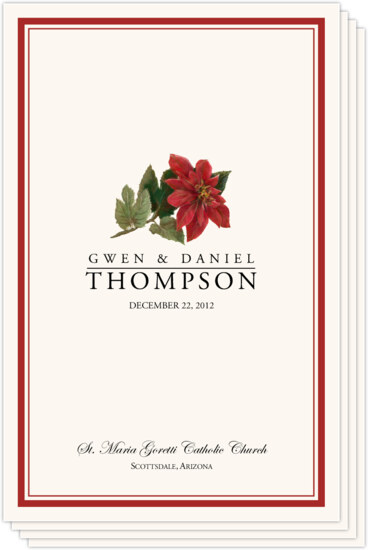 Wedding programs and program wording templates by culture religion poinsettia winter and holiday wedding programs m4hsunfo
