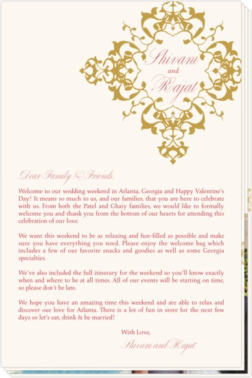 Indian Hindi Wedding Programs And Welcome Letters Documents And
