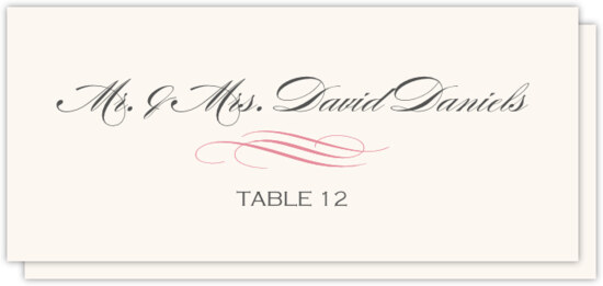 Ornate Line Flourish 0637 Contemporary and Classic Place Cards