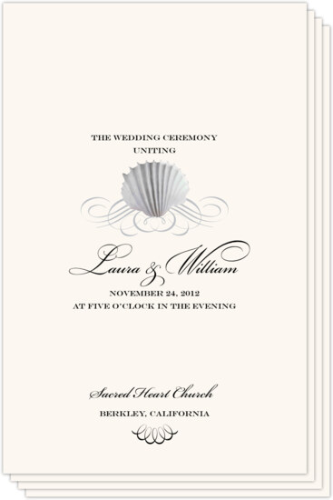 Seashell Scallop Swirl Beach and Seashell Wedding Programs