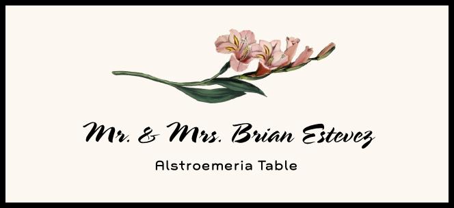 Alstroemeria  Place Cards