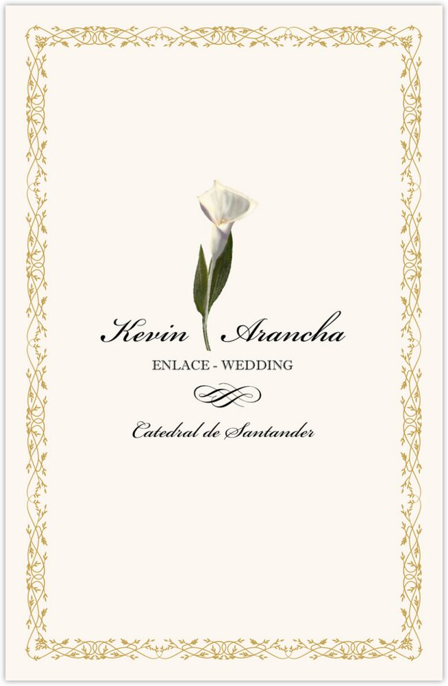 Calla Lily Divider  Wedding Programs